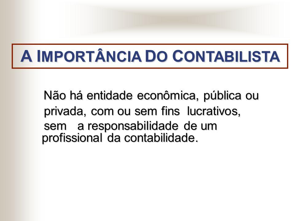 A IMPORTÂNCIA DO CONTABILISTA