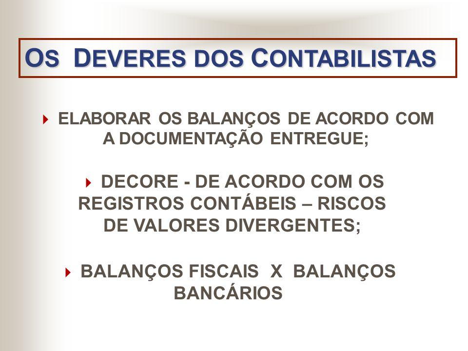 OS DEVERES DOS CONTABILISTAS