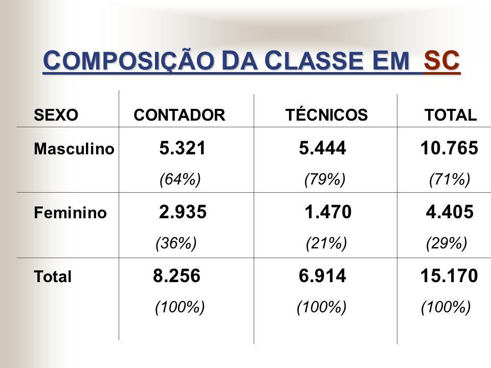 COMPOSIÇÃO DA CLASSE EM SC