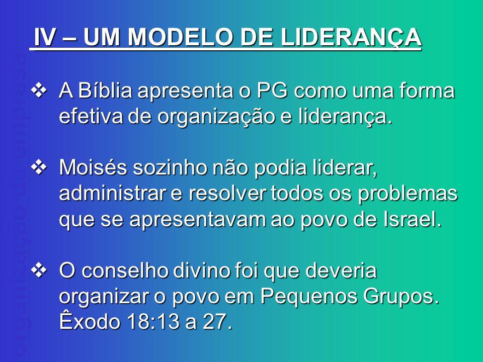 IV – UM MODELO DE LIDERANÇA