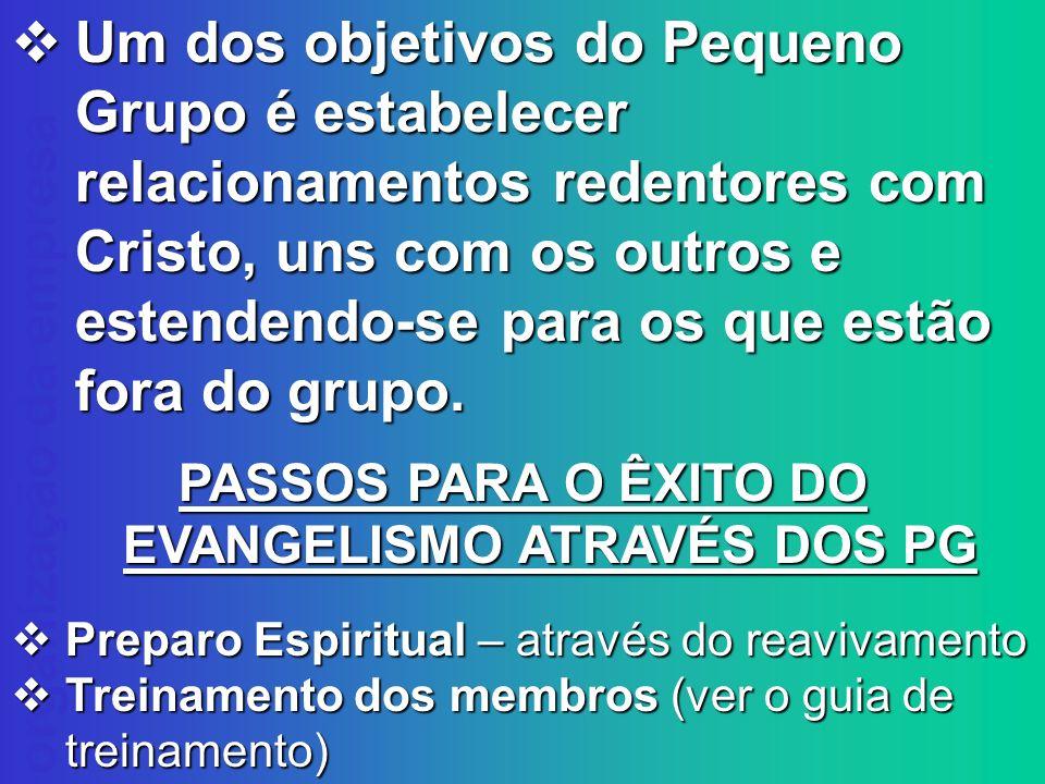 PASSOS PARA O ÊXITO DO EVANGELISMO ATRAVÉS DOS PG