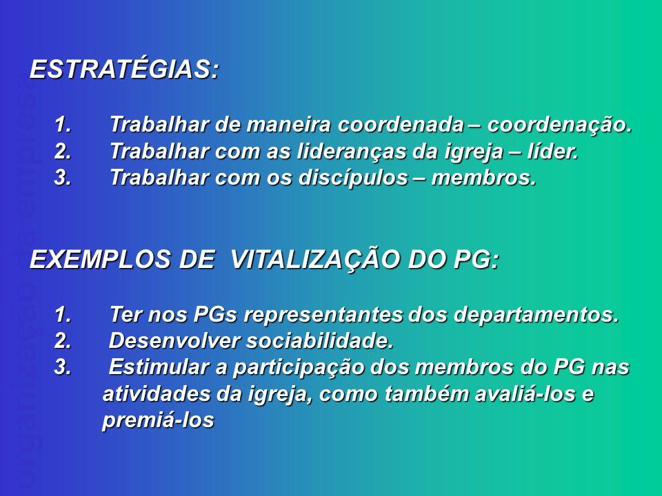 EXEMPLOS DE VITALIZAÇÃO DO PG: