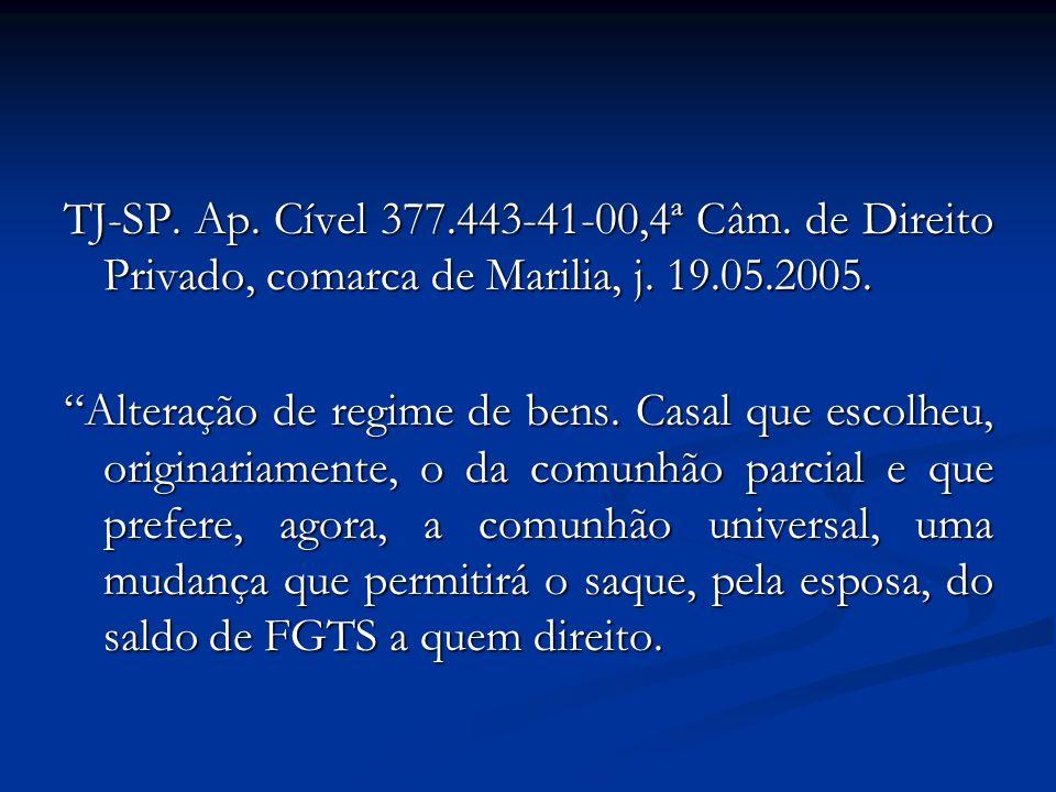 TJ-SP. Ap. Cível 377.443-41-00,4ª Câm. de Direito Privado, comarca de Marilia, j. 19.05.2005.