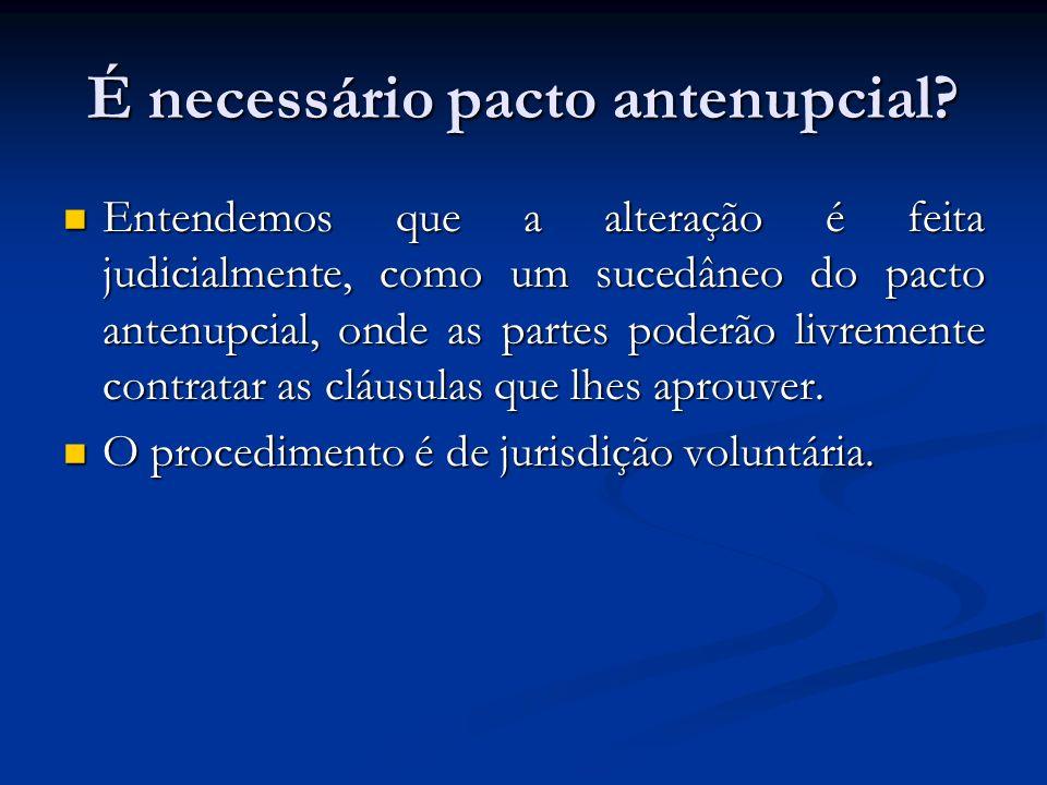 É necessário pacto antenupcial