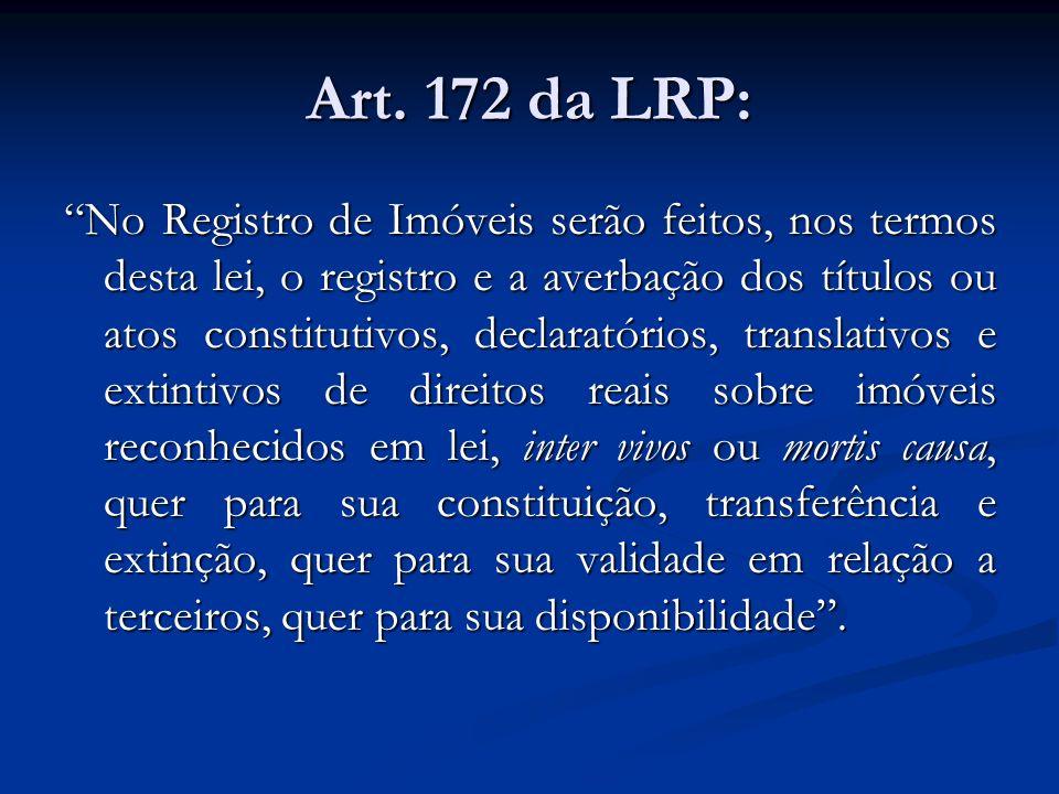 Art. 172 da LRP:
