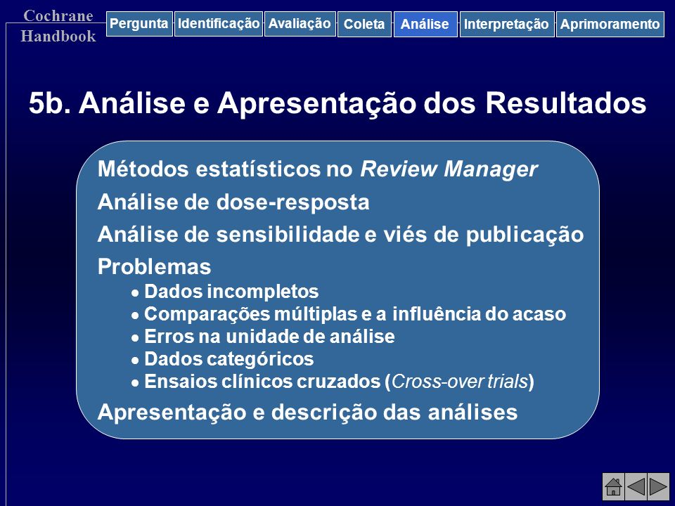 5b. Análise e Apresentação dos Resultados