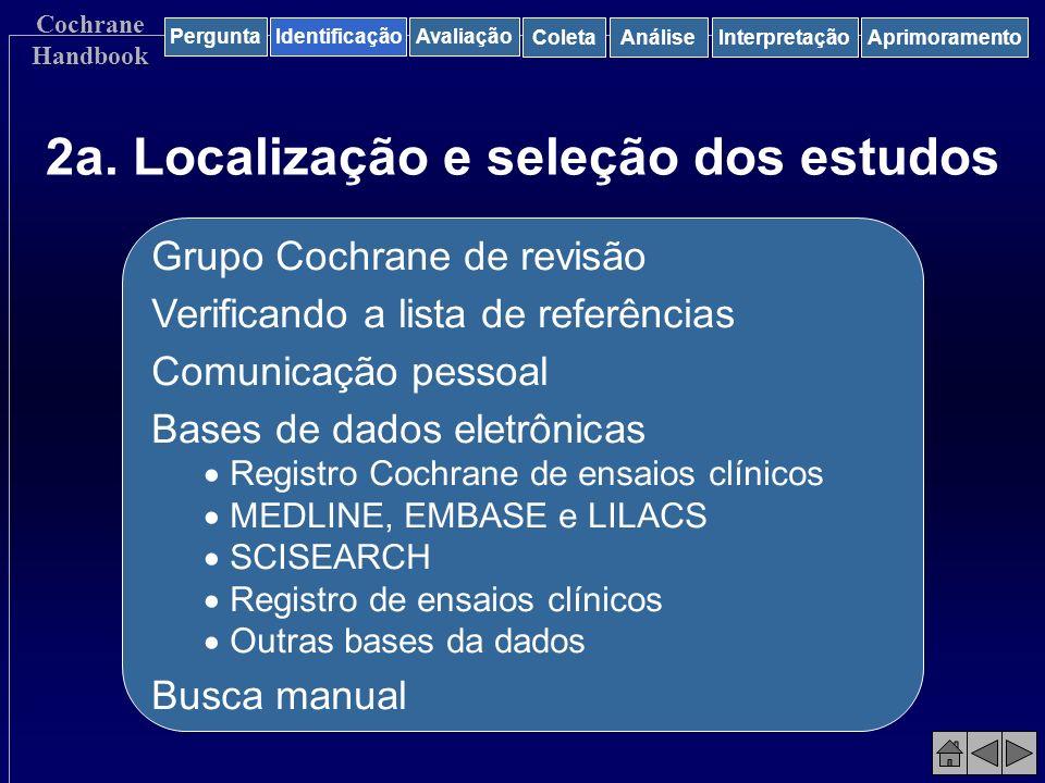 2a. Localização e seleção dos estudos