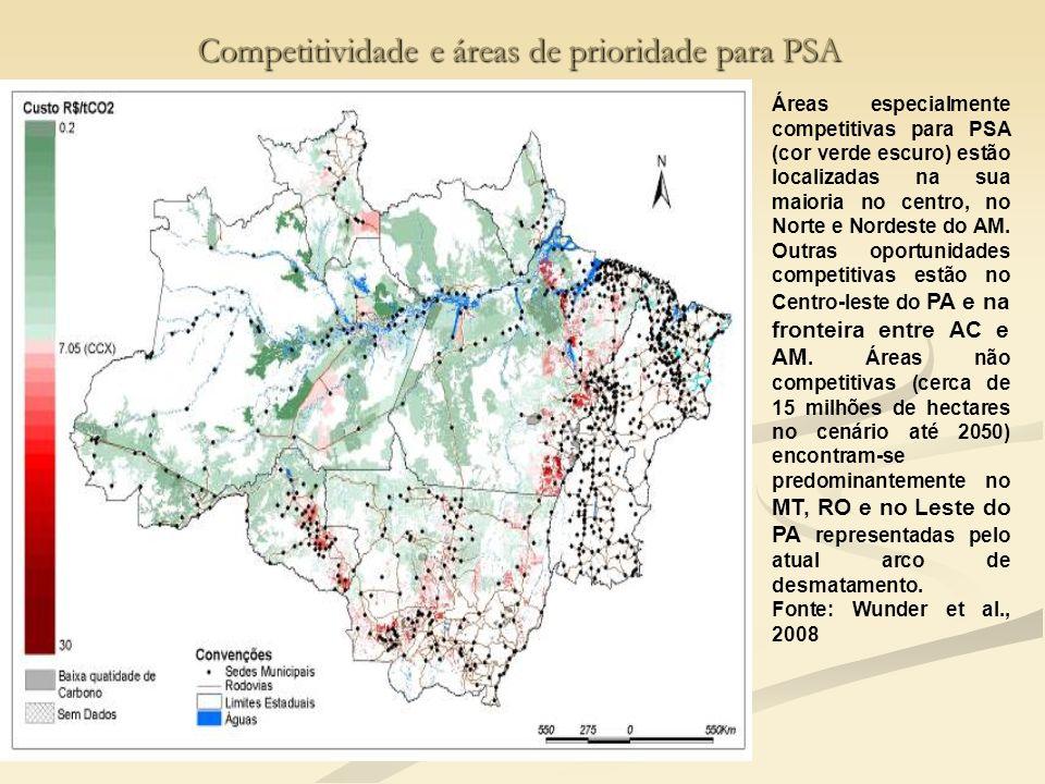 Competitividade e áreas de prioridade para PSA
