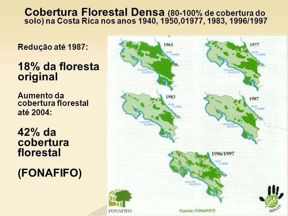 42% da cobertura florestal