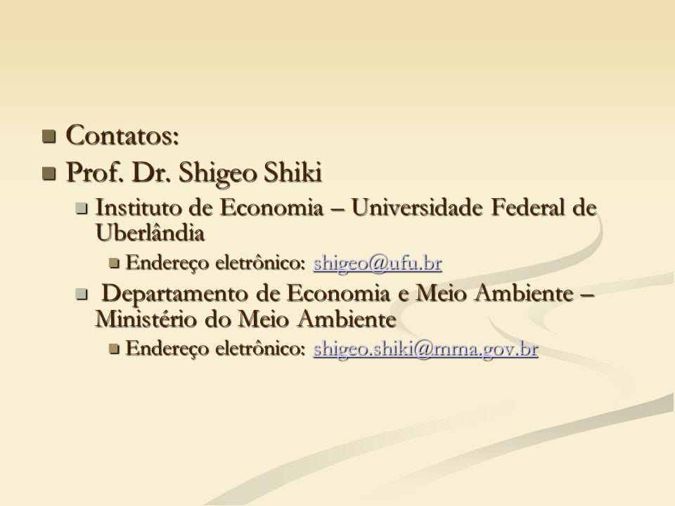 Contatos: Prof. Dr. Shigeo Shiki
