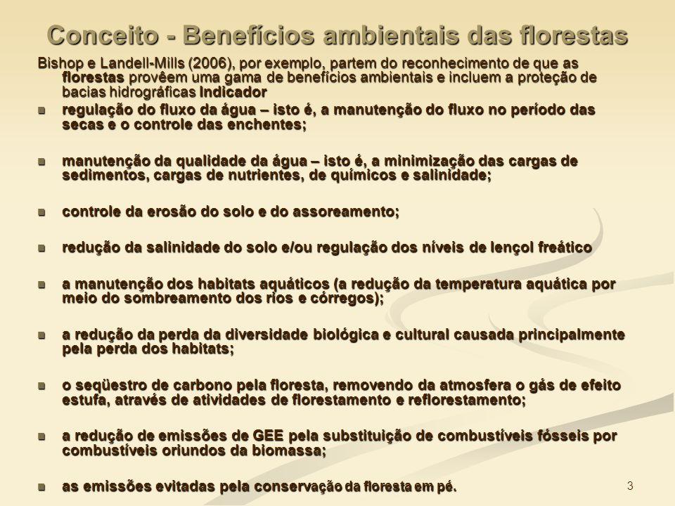 Conceito - Benefícios ambientais das florestas