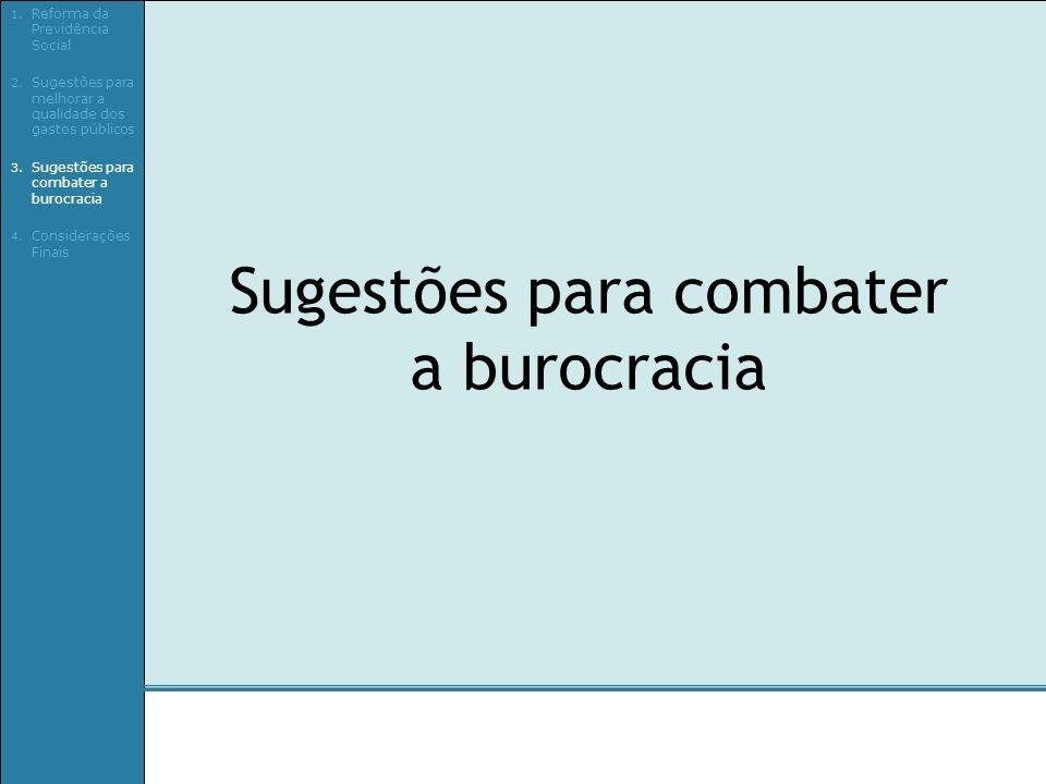 Sugestões para combater a burocracia