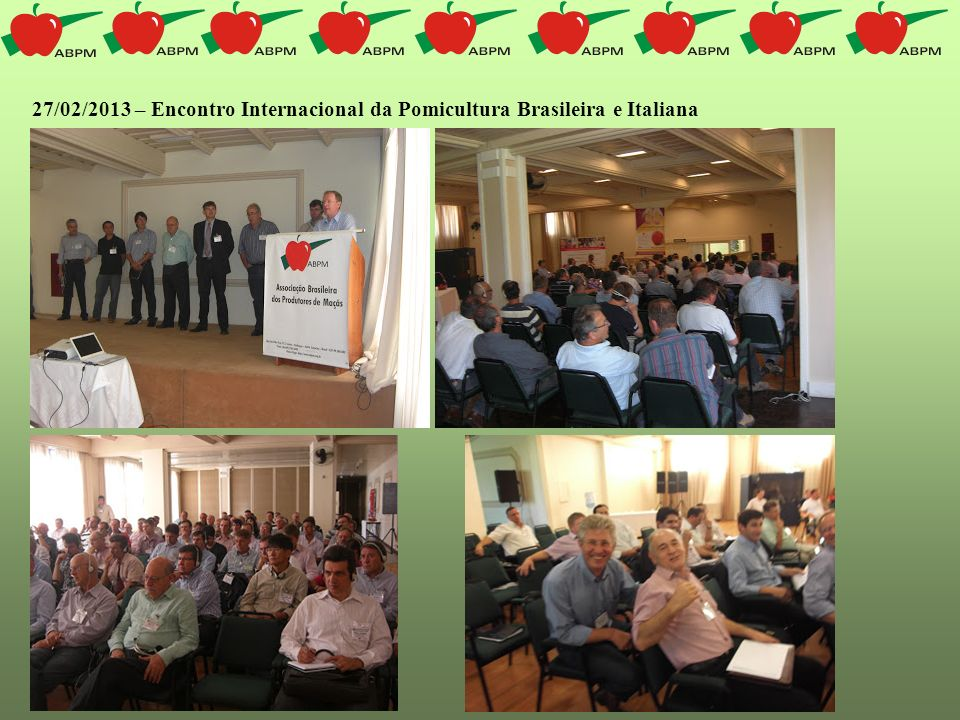 27/02/2013 – Encontro Internacional da Pomicultura Brasileira e Italiana