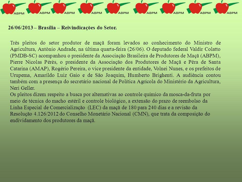 26/06/2013 – Brasília – Reivindicações do Setor.