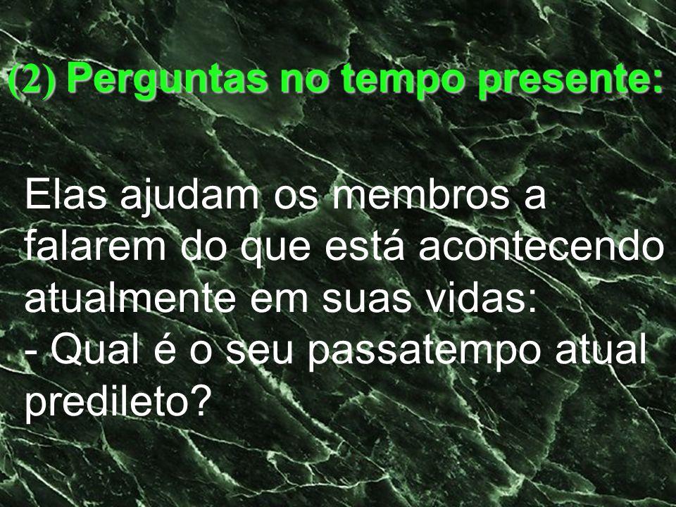 (2) Perguntas no tempo presente: