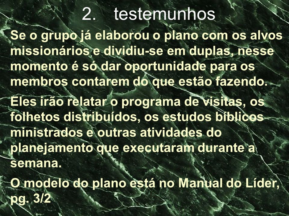 2. testemunhos