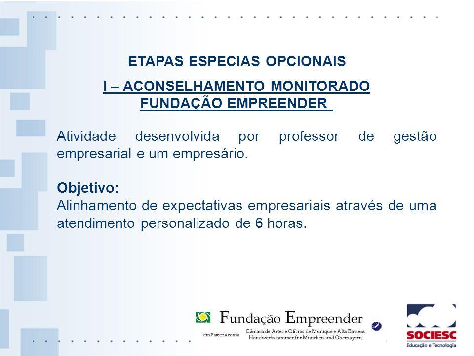 ETAPAS ESPECIAS OPCIONAIS