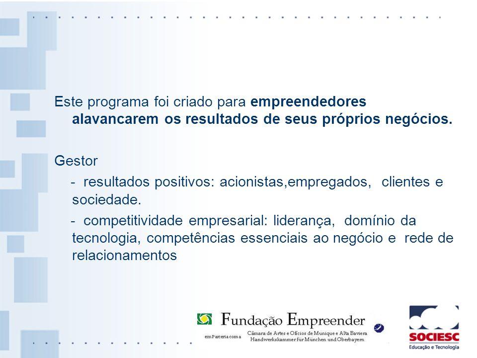 Este programa foi criado para empreendedores alavancarem os resultados de seus próprios negócios.