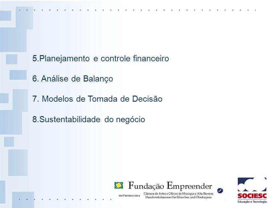 5.Planejamento e controle financeiro