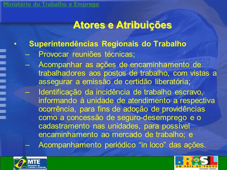 Atores e Atribuições Superintendências Regionais do Trabalho