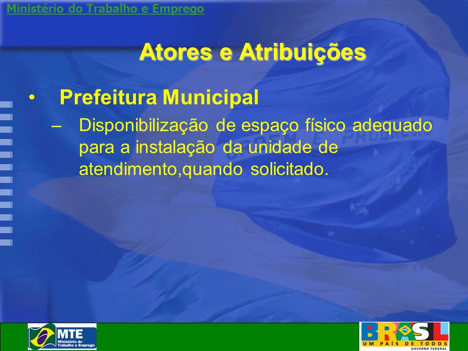 Atores e Atribuições Prefeitura Municipal