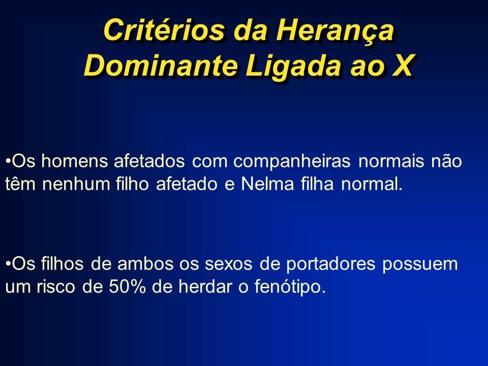 Critérios da Herança Dominante Ligada ao X