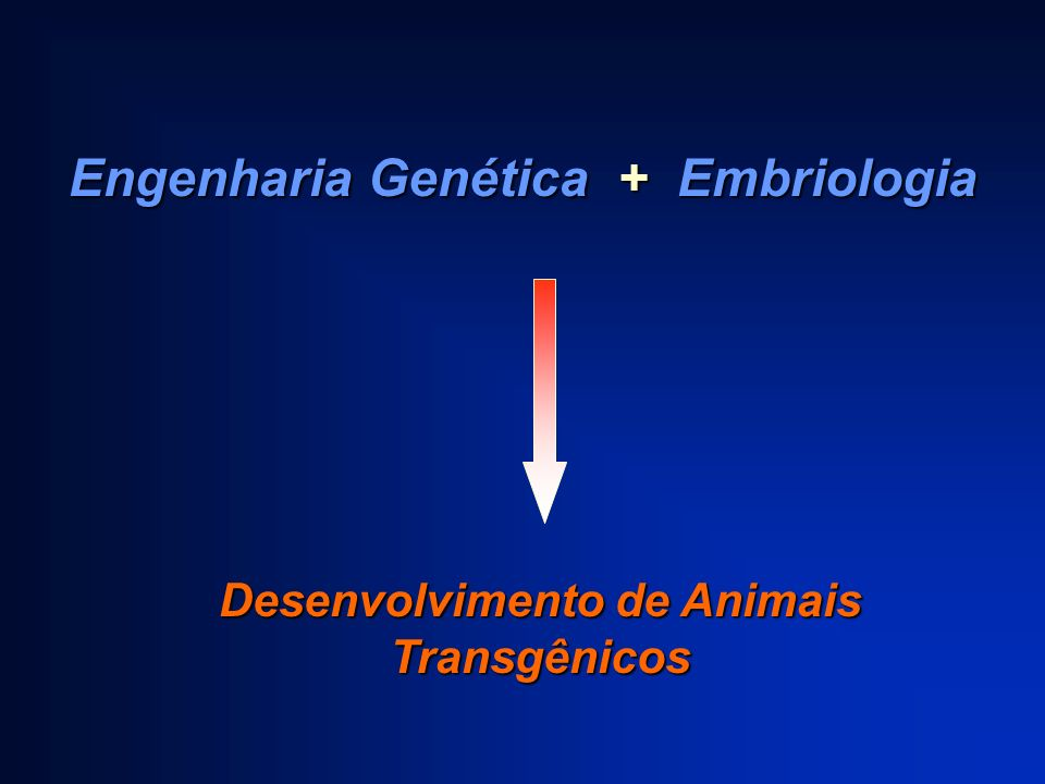 Engenharia Genética + Embriologia