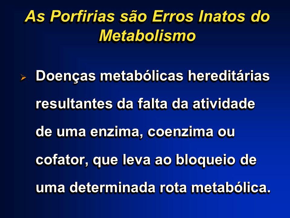 As Porfirias são Erros Inatos do Metabolismo