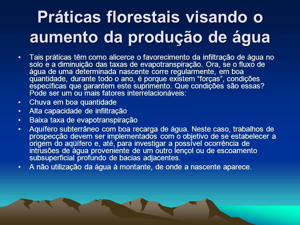 Práticas florestais visando o aumento da produção de água
