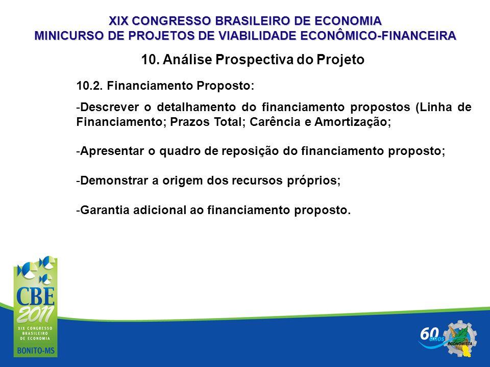 10. Análise Prospectiva do Projeto