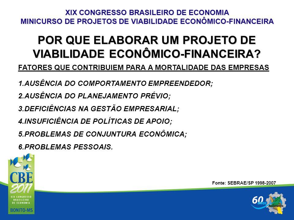 POR QUE ELABORAR UM PROJETO DE VIABILIDADE ECONÔMICO-FINANCEIRA