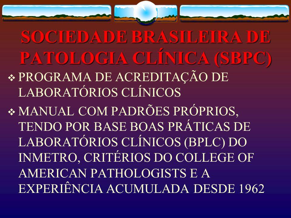 SOCIEDADE BRASILEIRA DE PATOLOGIA CLÍNICA (SBPC)