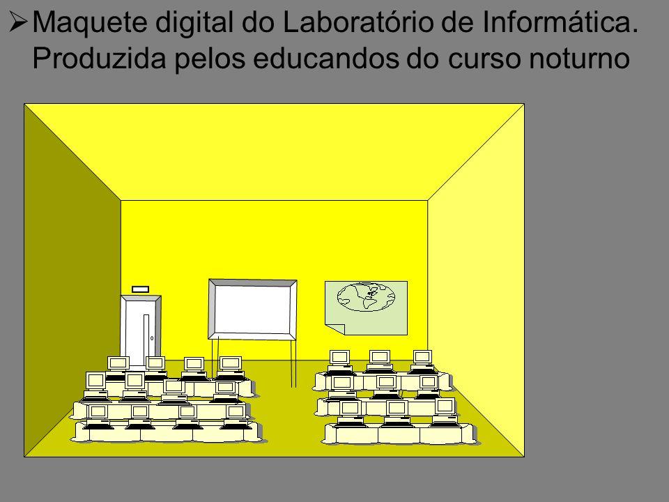 Maquete digital do Laboratório de Informática