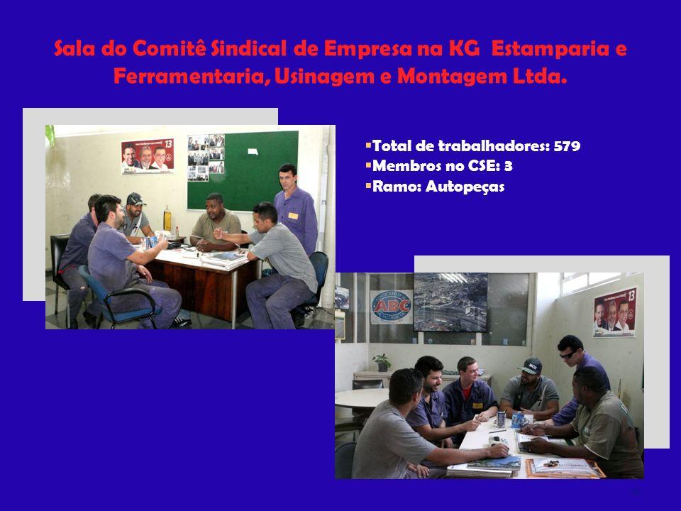 Sala do Comitê Sindical de Empresa na KG Estamparia e Ferramentaria, Usinagem e Montagem Ltda.