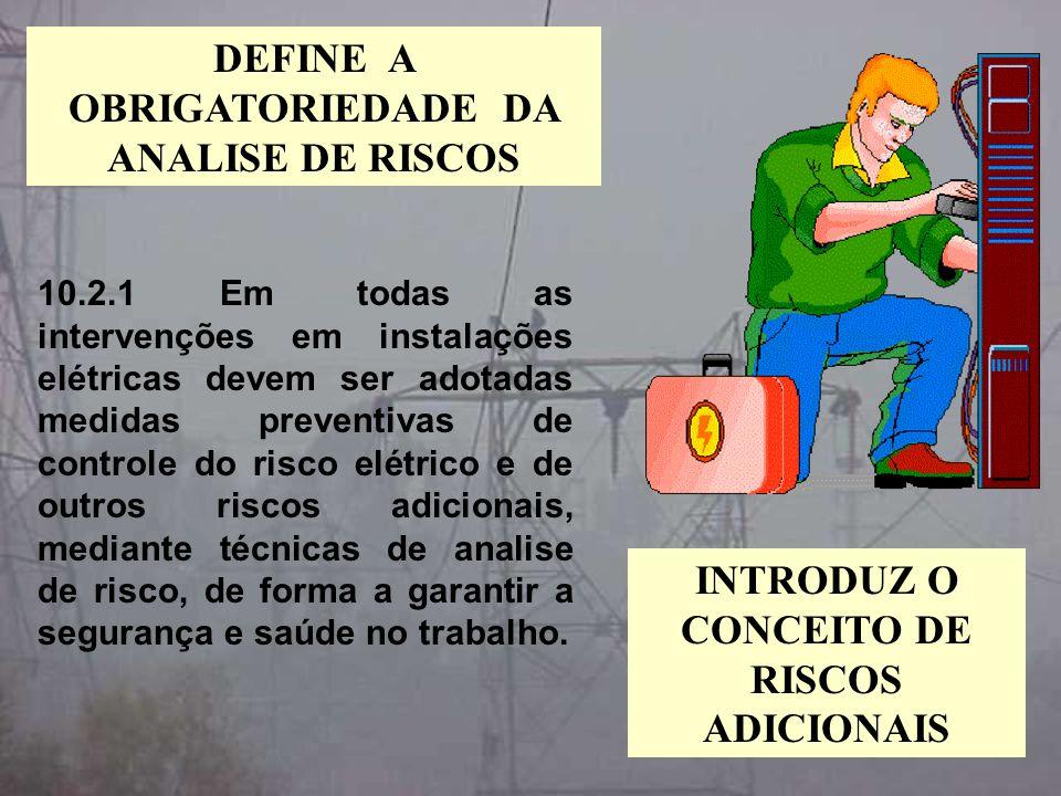DEFINE A OBRIGATORIEDADE DA ANALISE DE RISCOS