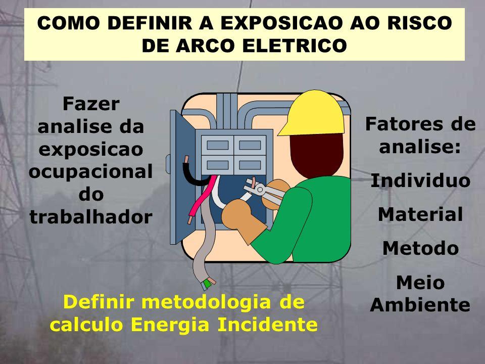 COMO DEFINIR A EXPOSICAO AO RISCO DE ARCO ELETRICO