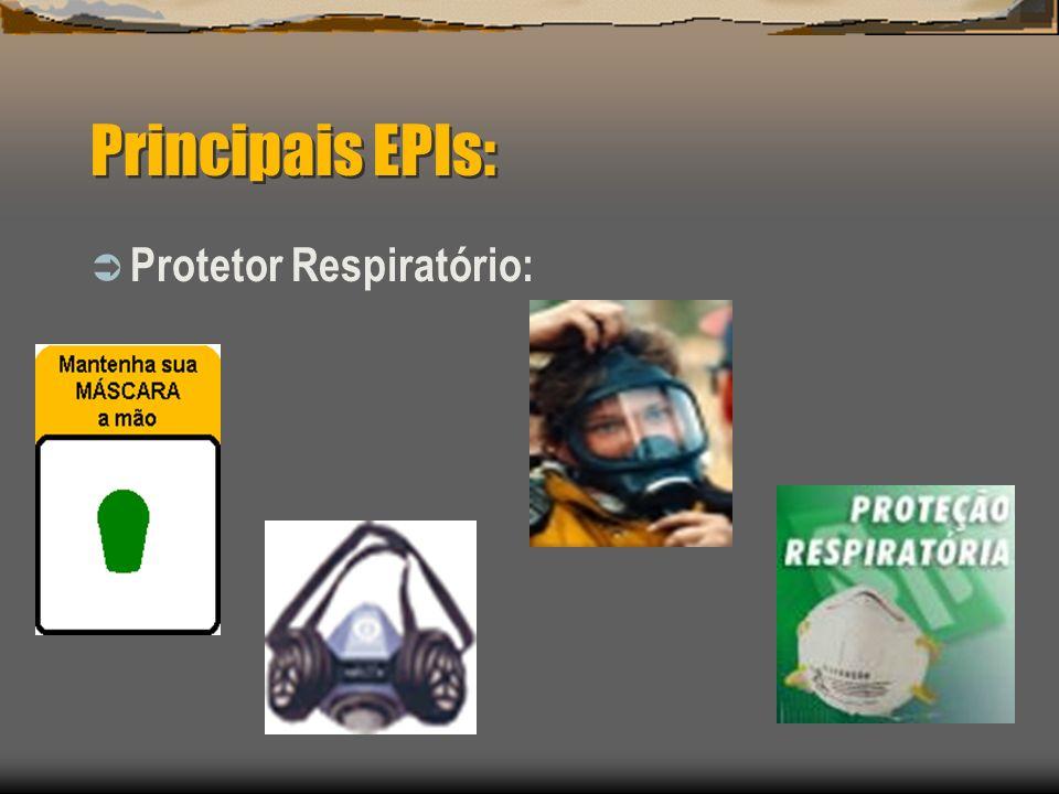Principais EPIs: Protetor Respiratório: