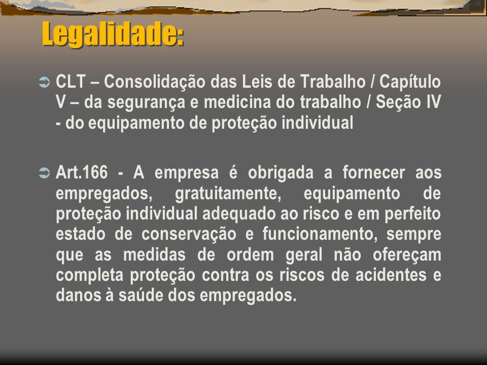 Legalidade:
