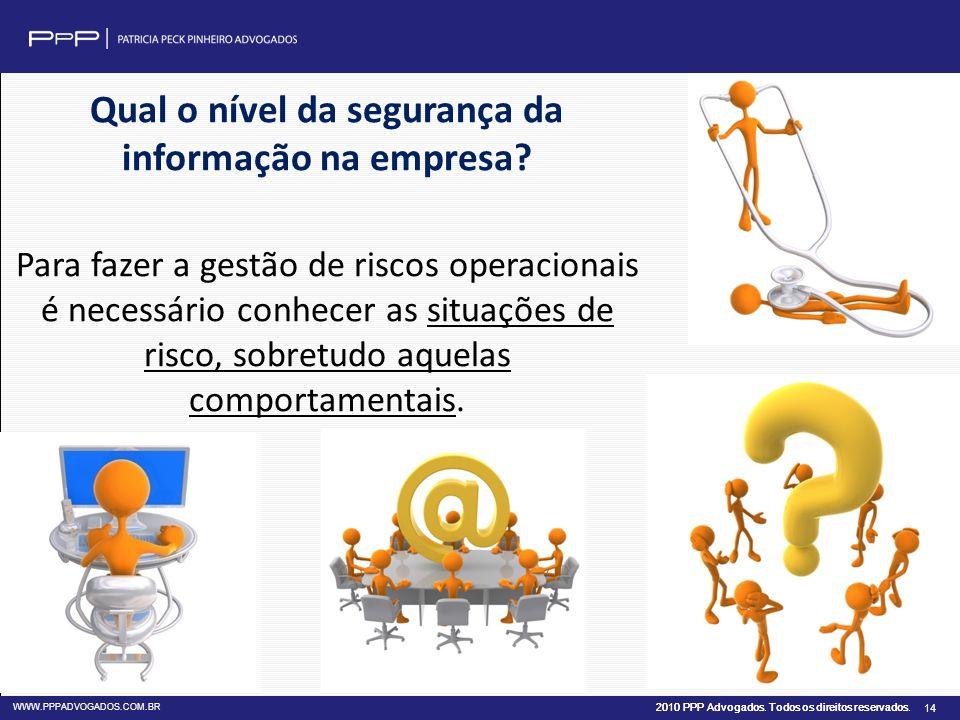 Qual o nível da segurança da informação na empresa