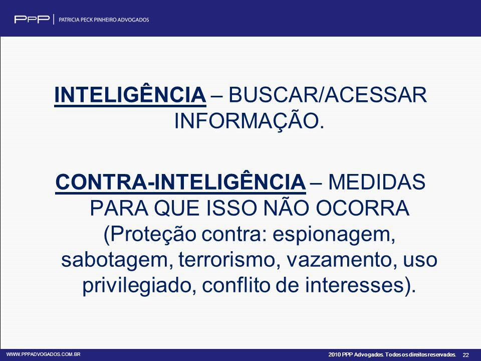 INTELIGÊNCIA – BUSCAR/ACESSAR INFORMAÇÃO