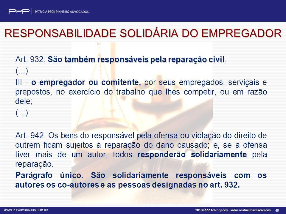 RESPONSABILIDADE SOLIDÁRIA DO EMPREGADOR