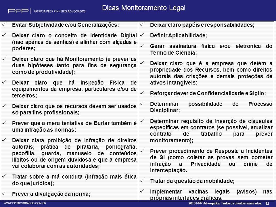 Dicas Monitoramento Legal