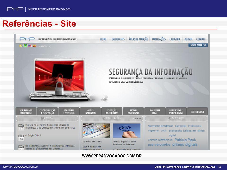 Referências - Site WWW.PPPADVOGADOS.COM.BR 54