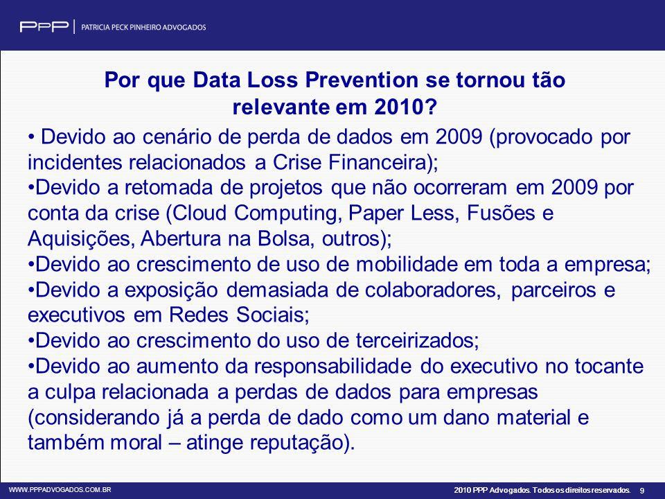 Por que Data Loss Prevention se tornou tão relevante em 2010