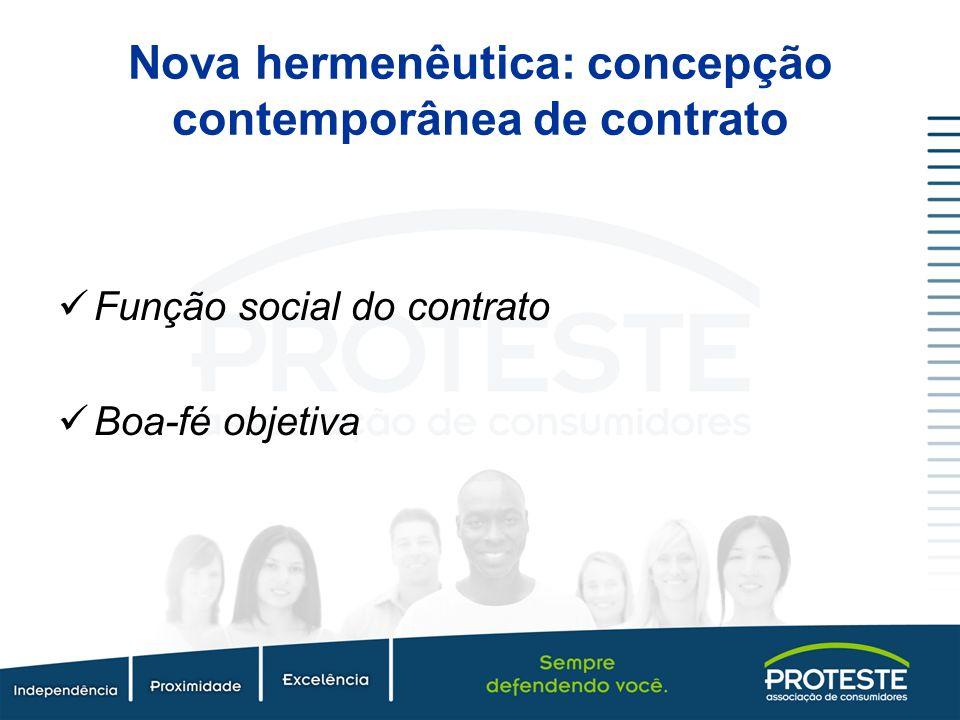 Nova hermenêutica: concepção contemporânea de contrato