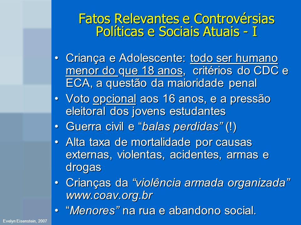 Fatos Relevantes e Controvérsias Políticas e Sociais Atuais - I