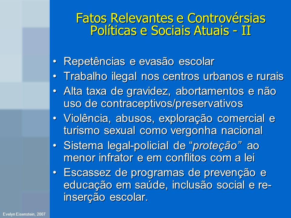 Fatos Relevantes e Controvérsias Políticas e Sociais Atuais - II