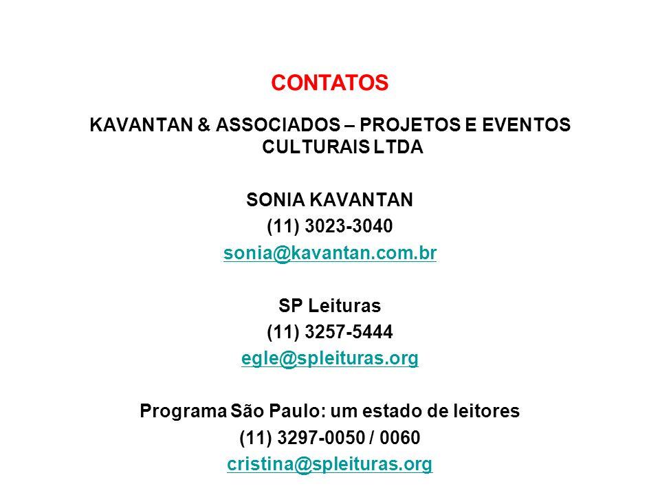 CONTATOS KAVANTAN & ASSOCIADOS – PROJETOS E EVENTOS CULTURAIS LTDA
