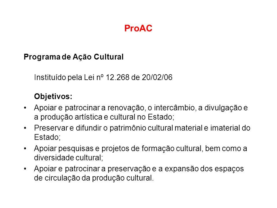 ProAC Programa de Ação Cultural