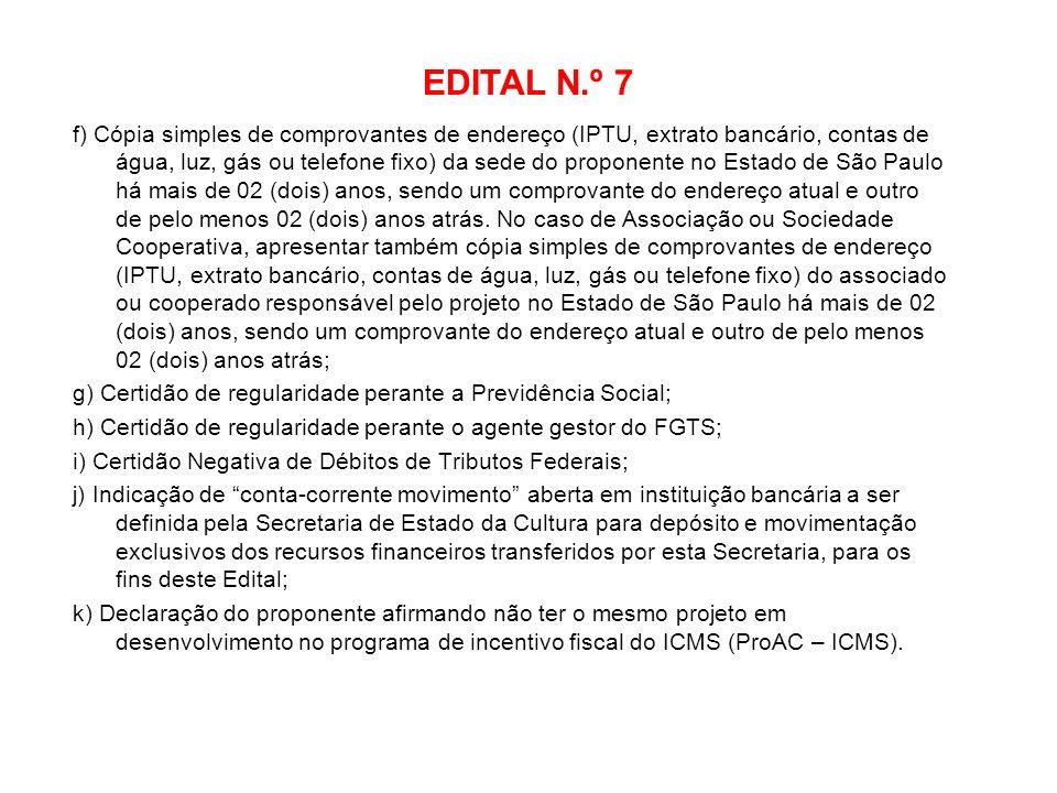 EDITAL N.º 7